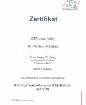 Reitgaßl KSR Auftragsbearbeitung 001