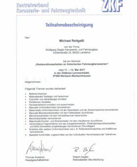 Reitgaßl Restauration hist. Fahrzeuge Teil I 001