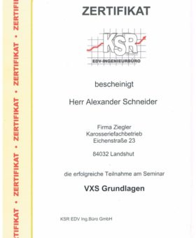 Schneider KSR VXS Grundlagen