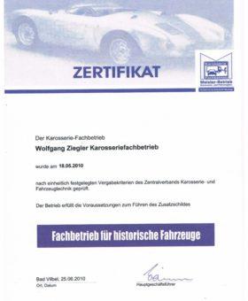 Ziegler Fachbetrieb für hist. Fahrzeuge 001