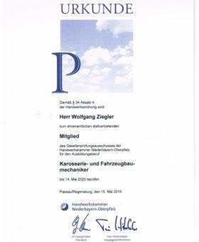 Ziegler Gesellenprüfungsausschuss Karosserie-Fahrzeugbaumechanik 001