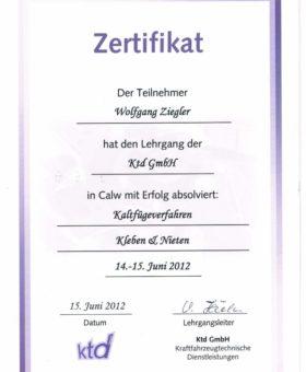 Ziegler Kaltfügeverfahren Kleben und Nieten 001